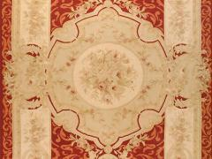 Aubusson Handwoven Antique Aubusson Wool and Silk Rug circa 1920 - 999449