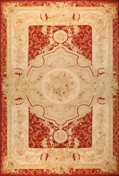 Aubusson Handwoven Antique Aubusson Wool and Silk Rug circa 1920 - 999450