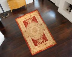 Aubusson Handwoven Antique Aubusson Wool and Silk Rug circa 1920 - 999451