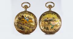 Audemars Piguet Audemars Piguet Pocket Rare 1880s Large Mens 42mm Double Enamel - 1205506