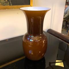 Aureliano Toso Aureliano Toso Brown Murano Glass Vase Italy 2000 - 1035249