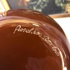 Aureliano Toso Aureliano Toso Brown Murano Glass Vase Italy 2000 - 1035252