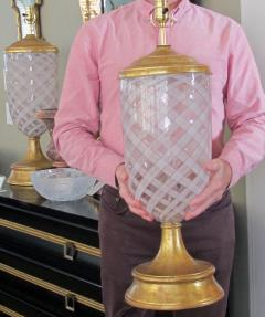 Aureliano Toso Pair of Murano Pink and White Lattacino Lamps by Dino Martens for Aureliano Toso - 1359836