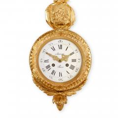 Autray Fils Antique French gilt bronze cartel clock by Autray Fils - 1493946