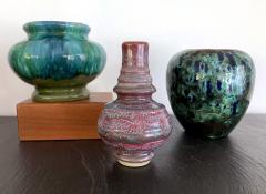 Awaji Pottery A Japanese Flambe Awaji Pottery Vase - 1041765