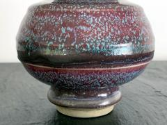 Awaji Pottery A Japanese Flambe Awaji Pottery Vase - 1041766