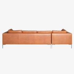 B B Italia B B Italia Charles Sectional in Cognac Leather by Antonio Citterio - 1368181