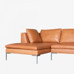 B B Italia B B Italia Charles Sectional in Cognac Leather by Antonio Citterio - 1368183