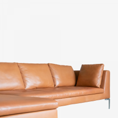 B B Italia B B Italia Charles Sectional in Cognac Leather by Antonio Citterio - 1368184