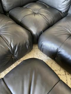 B B Italia Black Leather Camaleonda by Mario Bellini for B B Italia - 2036439