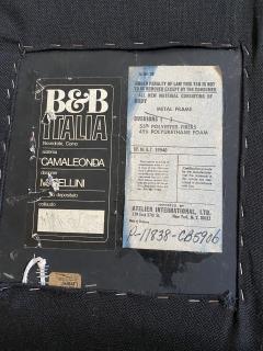 B B Italia Black Leather Camaleonda by Mario Bellini for B B Italia - 2036441