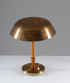 B hlmarks Swedish Midcentury Table Lamp in Brass by Harald Notini for B hlmarks - 1620212