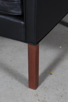 B rge Mogensen Borge Mogensen B rge Mogensen Armchair model 2207 Black leather - 2127207