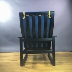 B rge Mogensen Borge Mogensen B rge Mogensen Model 2254 Ebonized Sled Chair Denmark - 1747507