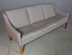 B rge Mogensen Borge Mogensen B rge Mogensen Three pers sofa model 2209 in gray Square fabric - 2099799