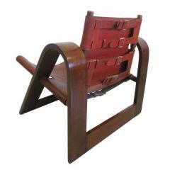 B rge Mogensen Borge Mogensen Danish Mid Century Modern Leather Strap Chair Attributed to Borge Mogensen - 1876841