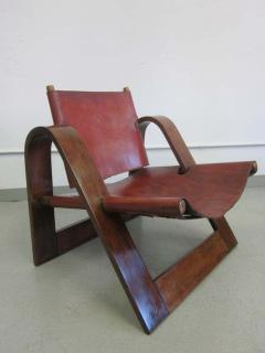 B rge Mogensen Borge Mogensen Danish Mid Century Modern Leather Strap Chair Attributed to Borge Mogensen - 1876859