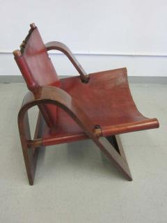 B rge Mogensen Borge Mogensen Danish Mid Century Modern Leather Strap Chair Attributed to Borge Mogensen - 1876860
