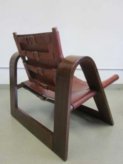 B rge Mogensen Borge Mogensen Danish Mid Century Modern Leather Strap Chair Attributed to Borge Mogensen - 1876863