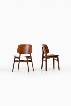 B rge Mogensen Borge Mogensen Dining Chairs Model 122 Shell Chair Produced by S borg M bler - 1986196