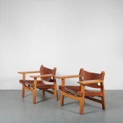 B rge Mogensen Borge Mogensen Pair of Spanish Chairs by B rge Mogensen for Fredericia Denmark 1960 - 1326473