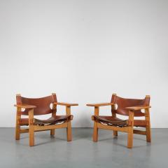 B rge Mogensen Borge Mogensen Pair of Spanish Chairs by B rge Mogensen for Fredericia Denmark 1960 - 1326474