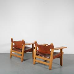 B rge Mogensen Borge Mogensen Pair of Spanish Chairs by B rge Mogensen for Fredericia Denmark 1960 - 1326475