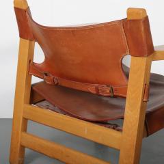 B rge Mogensen Borge Mogensen Pair of Spanish Chairs by B rge Mogensen for Fredericia Denmark 1960 - 1326477