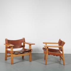 B rge Mogensen Borge Mogensen Pair of Spanish Chairs by B rge Mogensen for Fredericia Denmark 1960 - 1326478