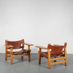 B rge Mogensen Borge Mogensen Pair of Spanish Chairs by B rge Mogensen for Fredericia Denmark 1960 - 1326480