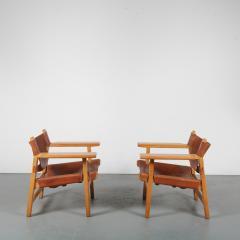 B rge Mogensen Borge Mogensen Pair of Spanish Chairs by B rge Mogensen for Fredericia Denmark 1960 - 1326482