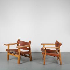 B rge Mogensen Borge Mogensen Pair of Spanish Chairs by B rge Mogensen for Fredericia Denmark 1960 - 1326483