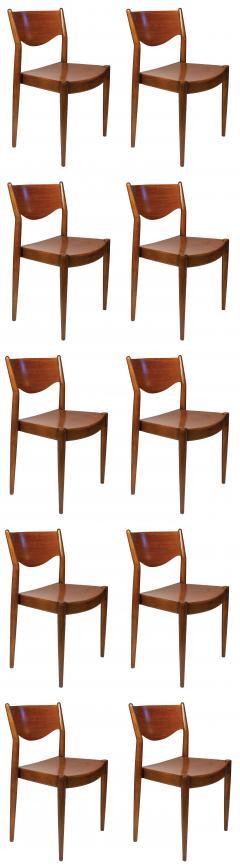 B rge Mogensen Borge Mogensen Set of Ten Dining Chairs for by Borge Mogensen for C M Madsens - 2140558