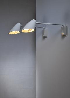 BOR NS BOR S Pair of Borens wall lamps Sweden 1950s 60s - 1119680