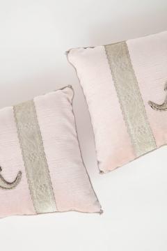 BViz Designs Pair of Blush Pink Velvet Pillows - 785675