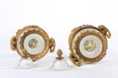 Baccarat 19th Century Pair Baccarat Crystal Bronze Mounted Urns Vases - 1593388