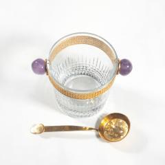 Baccarat Baccarat Nancy Crystal and Gilt Ice Bucket and Gilt Ladle - 1023861