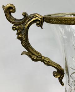 Baccarat Bronze Mounted and Cut Glass Twin Handle Vase or Urn - 1647117