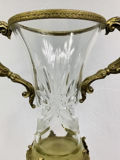 Baccarat Bronze Mounted and Cut Glass Twin Handle Vase or Urn - 1647125