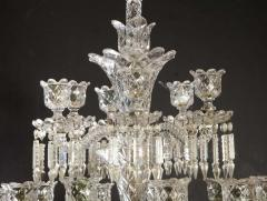 Baccarat Cristalleries De Baccarat A Large Pair of French Cut Crystal 18 Light Torcheres - 2138062
