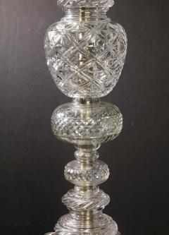 Baccarat Cristalleries De Baccarat A Large Pair of French Cut Crystal 18 Light Torcheres - 2138071