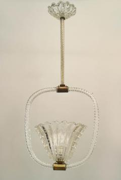Baccarat French 1940s Baccarat Crystal Swirl Design Lantern - 467713