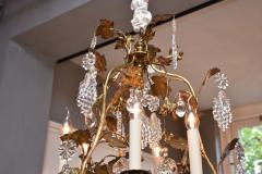 Baccarat Gilt bronze antique French chandelier with Baccarat crystals - 1570723