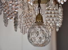 Baccarat Gilt bronze antique French chandelier with Baccarat crystals - 1570724
