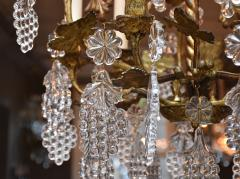 Baccarat Gilt bronze antique French chandelier with Baccarat crystals - 1570726