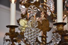 Baccarat Gilt bronze antique French chandelier with Baccarat crystals - 1570729