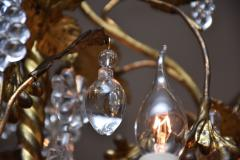 Baccarat Gilt bronze antique French chandelier with Baccarat crystals - 1570730