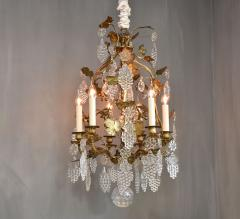 Baccarat Gilt bronze antique French chandelier with Baccarat crystals - 1570733