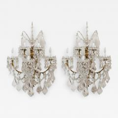 Baccarat L 16 Stunning Pair of Neoclassical Sconces by Baccarat - 259897
