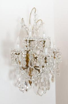 Baccarat L 16 Stunning Pair of Neoclassical Sconces by Baccarat - 259899
